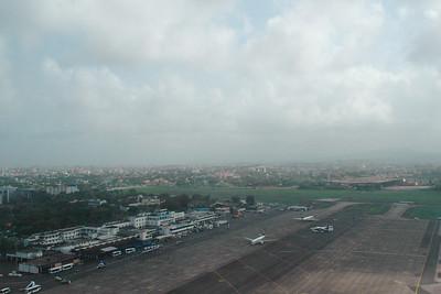 Ariel view of Mumbai Airport enroute to Chennai & Colombo then Kuala Lumpur, July 2004