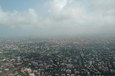 Ariel view of Mumbai city enroute to Chennai & Colombo then Kuala Lumpur, July 2004