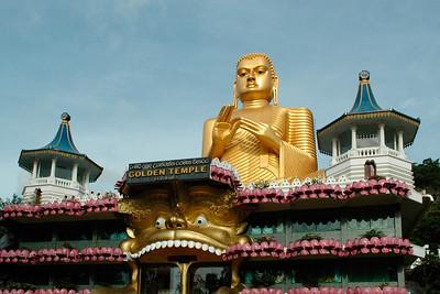 Buddha, Golden Temple, Dambulla, Sri Lanka, July 2004