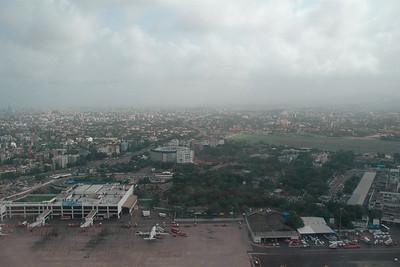 Ariel view of Mumbai city & international airport enroute to Chennai & Colombo then Kuala Lumpur, July 2004