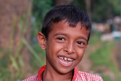 Big grin on the boy's face in Sri Lanka.