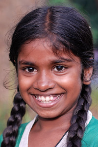 Big grin on the little girl's face in Sri Lanka.