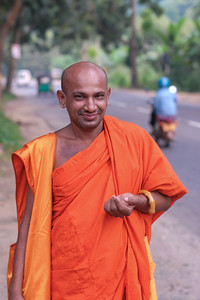 Monk in Sri Lanka.