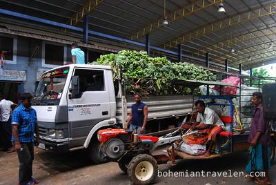 Dambulla wholesale market in Sri Lanka.