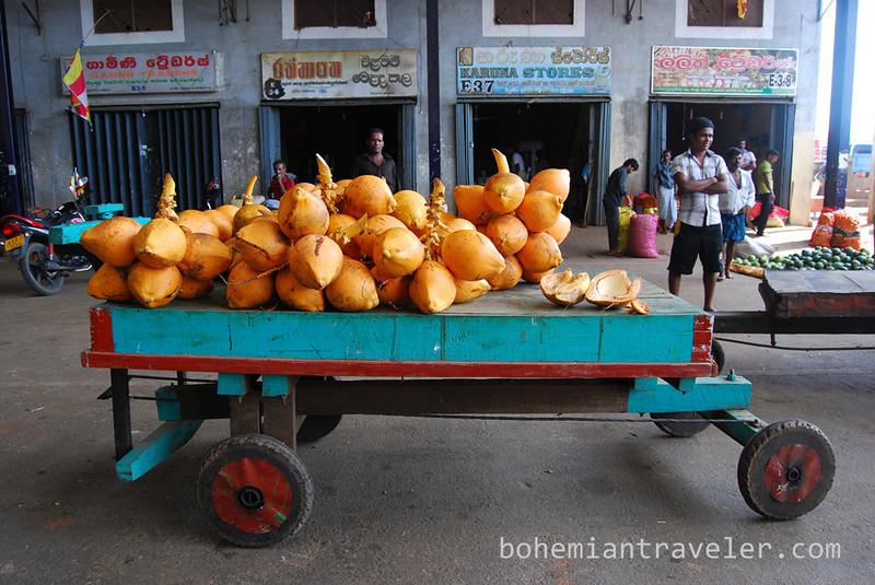 King Coconuts at Dambulla wholesale market in Sri Lanka.