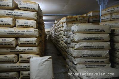 50 kilo packages of tea at Danbatenne Tea Factory
