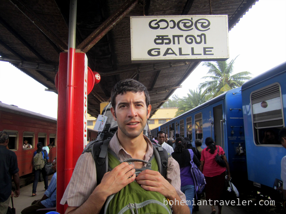 Stephen at Galle train station