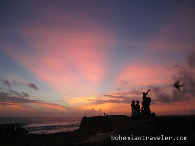 Galle Fort at sunset.