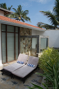 Our hotel on the south coast just east of Galle was one of the nicest.  With only 12 rooms it was easy to be spoiled.  Our room had a private sun deck with an equally private dipping pool / jacuzzi.