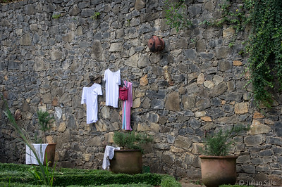 Clothes are hung out to dry in every conceivable location.  As you will see, rooftops are particularly popular.