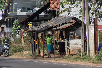 Sri Lankans are very entrepreneurial.  The will set up a shack (little more than a lean-to), to sell things - mostly food.