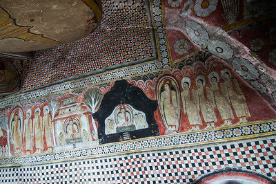Dambulla Cave Temple - ceiling murals
