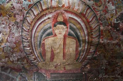 Dambulla Cave Temple - Buddha mural