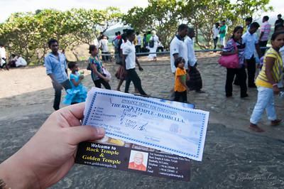 Ticket for  Dambulla Cave Temple
