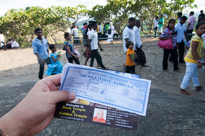Ticket for  Dambulla Cave Temple