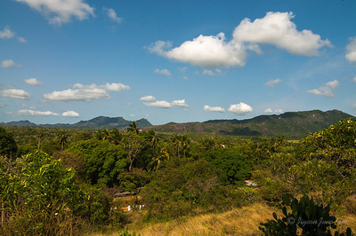 the view from Dambulla cave temple