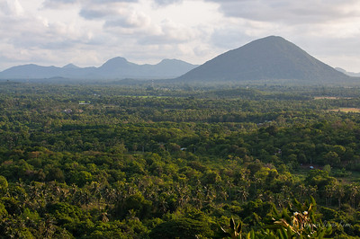The view of Sri Lanka from Dambulla Cave Temple