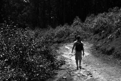 Hiker in Nuera Elia