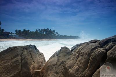 From the rocks at Unawatuna Beach : Sri lanka