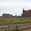 Vista del estacionamiento de St Andrews Old Course