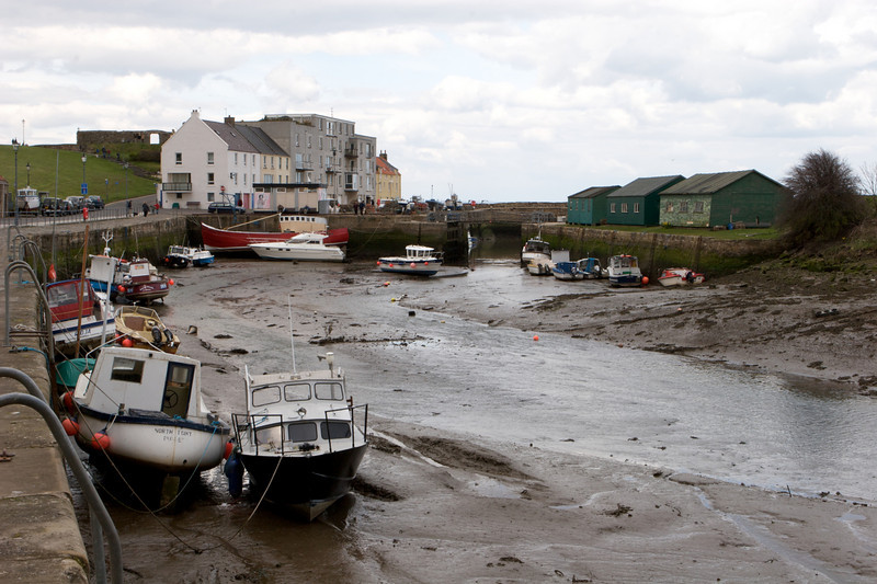 St Adrews Harbor, miren de nuevo aca el efecto de la marea baja.