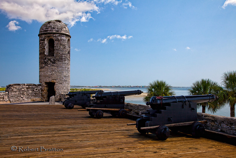 Cannons Toward the Ocean at Castillo de San Marcos