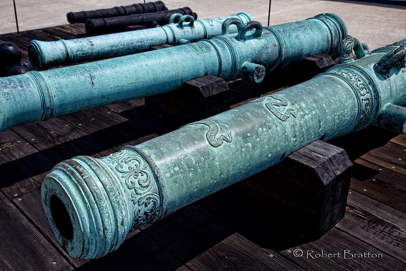Cannon Barrels at Castillo de San Marcos