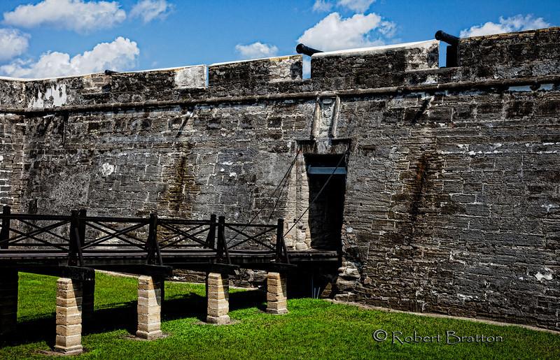 Bridge over the Grassy Moat at Castillo de San Marcos