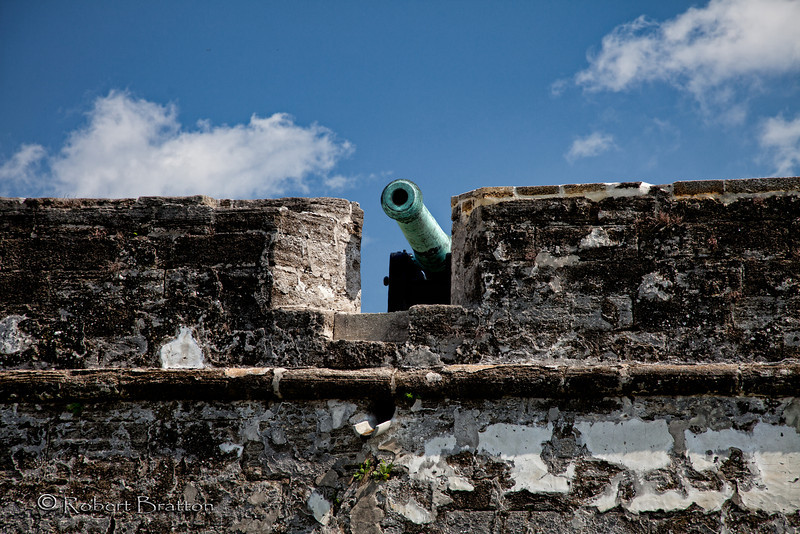 Cannon over Wall at Castillo de San Marcos