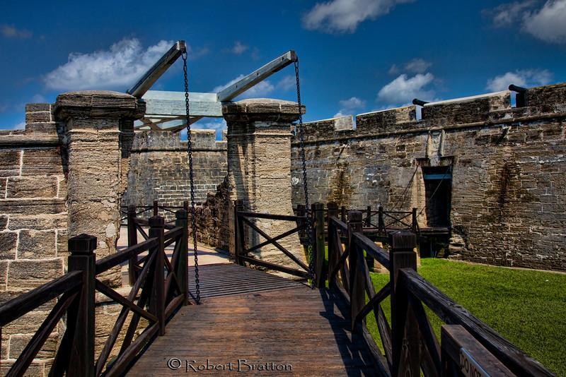 Drawbridge at the Castillo de San Marcos