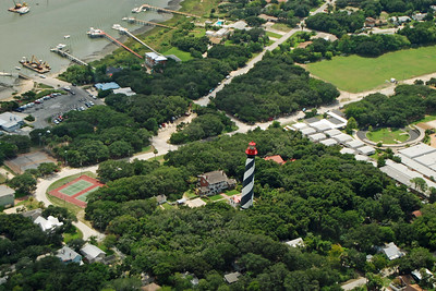 728 St Augustine Lighthouse from the air