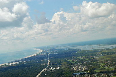 742 St Augustine from the air