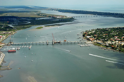 1757 Bridge of Lions in St Augustine from the air