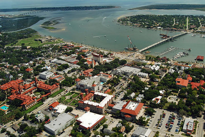 1764 St Augustine Old Town from the air