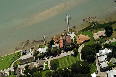 1760 St Augustine cemetery from the air