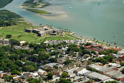 1765 St Augustine Spanish fort from the air