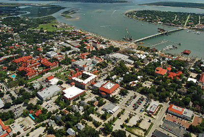 1763 St Augustine Old Town from the air