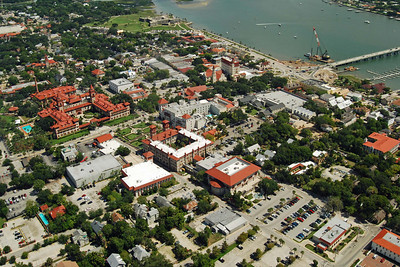 1762 St Augustine Old Town from the air