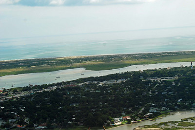 1758 St Augustine from the air