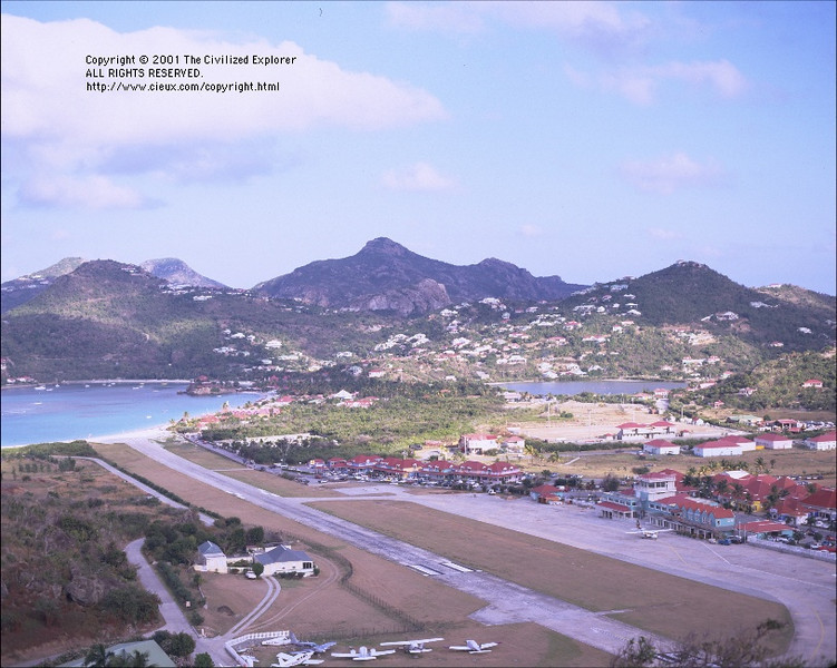 The famous St. Barth runway