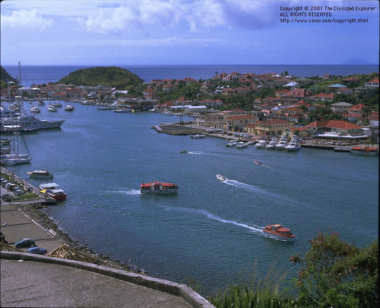 Traffic in Gustavia Harbor