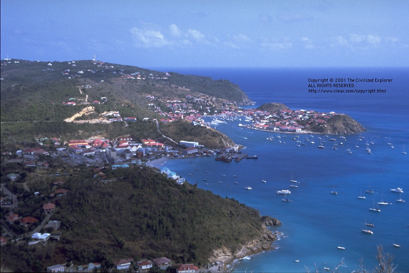 Overlooking Public Beach (lower) and Gustavia Harbor