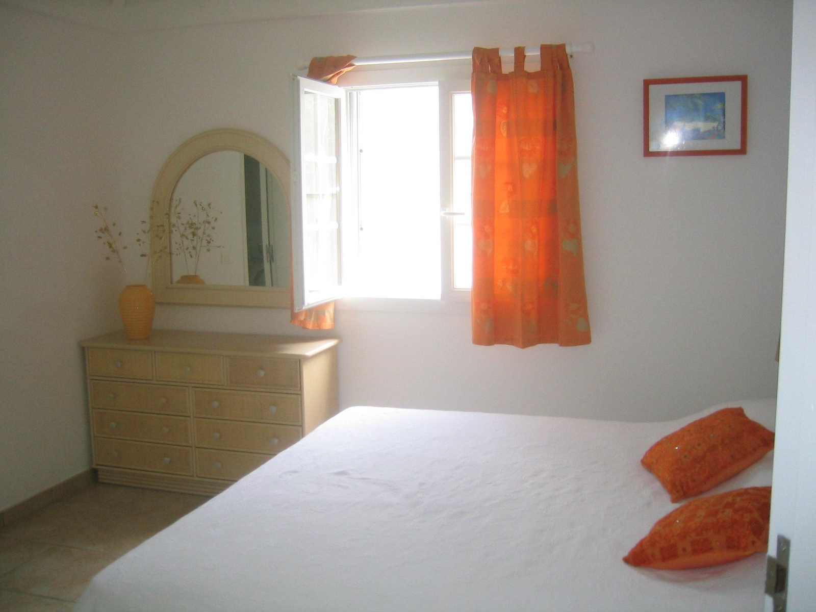 One of the two bedrooms at our Villa Les Cailles. (geotagged)