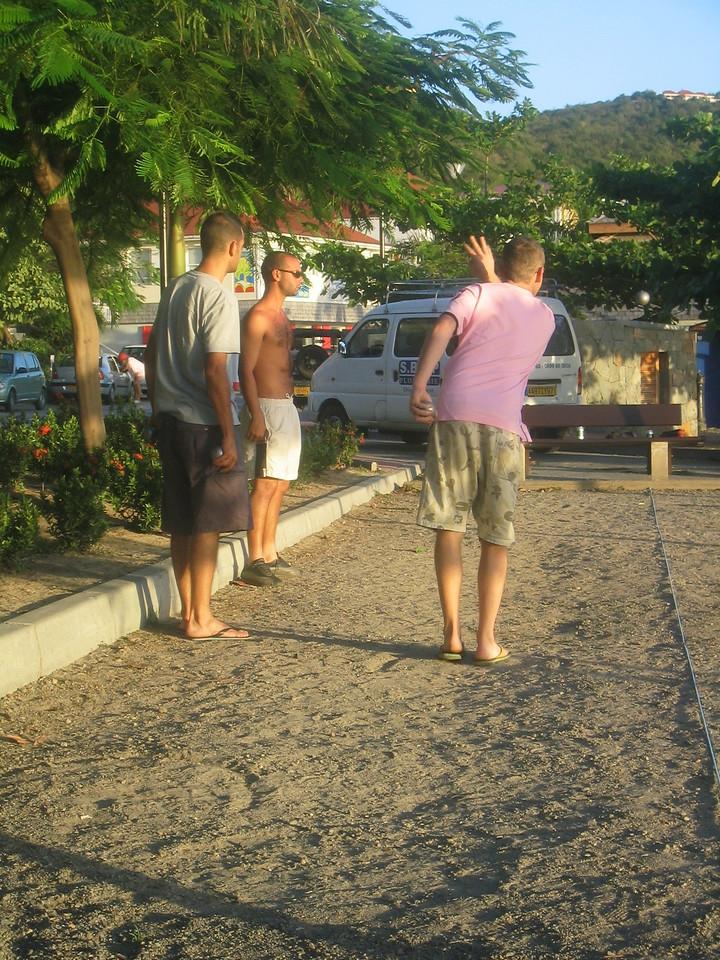 Petanque in Gustavia.