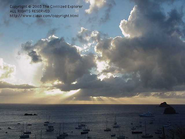 Gustavia sunset