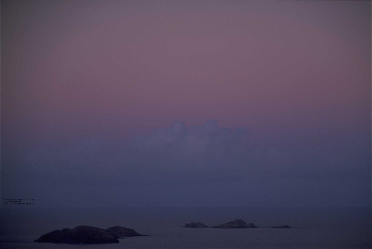 Almost dawn over Le Petite Anse