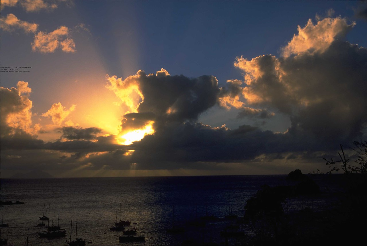 Sunset in Gustavia