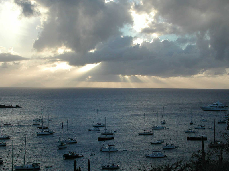 A view looking west from Gustavia