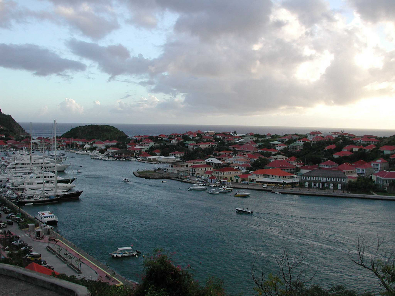 A view of the Gustavia Harbor from the lighthouse