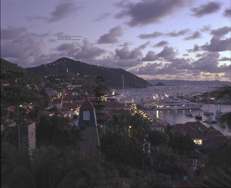 Gustavia sunset (reversed, by the way)